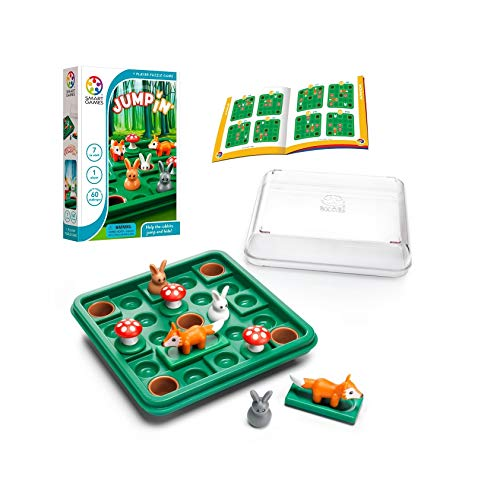 SmartGames Jump in' a Cognitive SkillBuilding Travel Puzzle Game for Kids and Adults Ages 7 amp Up 60 Challenges in TravelFriendly Case