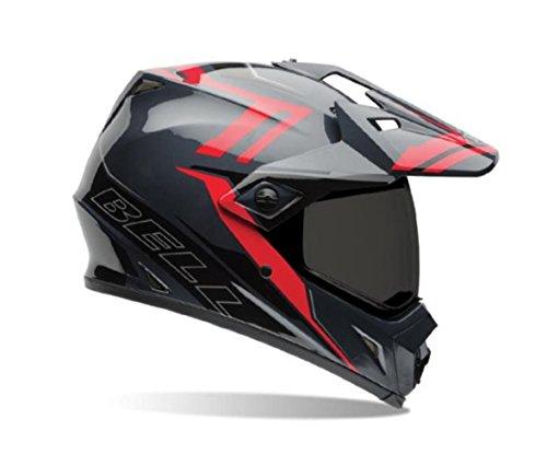 Bell Barricade Men MX-9 Adventure Dirt Bike Motorcycle Helmet - Red/Large
