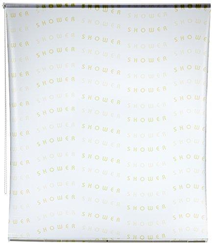 ECO-DuR 4024879004330 Ersatzvorhang Kassetten Duschrollo Seitenzug 134cm - Shower lemon