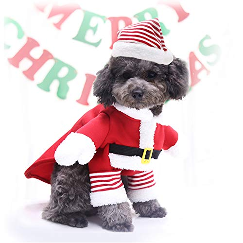 Idepet Pet Christmas Costume,Xmas Dog Cosplay Outfit Cute Santa Claus Puppy Kitty Party Clothes Cat New Year Funny Dress Up Pet Parties Apparel Suits (3XL)