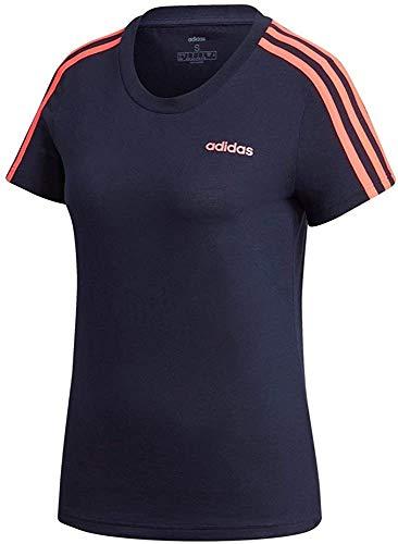 adidas Damen W E 3S Slim Tee T-Shirt, Legend Ink/Signal pink, 2XL