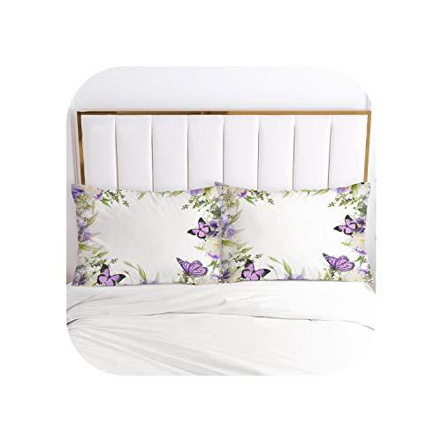 my cat 3D Pillow Case Pillowcase 50x70 50x75 50x80 70x70 Bedding For Wedding Decorative Pillow Cover Home Textile-Flower 017-White-P-51x66cm(20x26in) x2