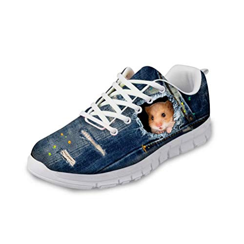 chaqlin Denim Hamster Modische Herren Damen Turnschuhe Anti-Rutsch-Sport Outdoor Running Toms Größe 37