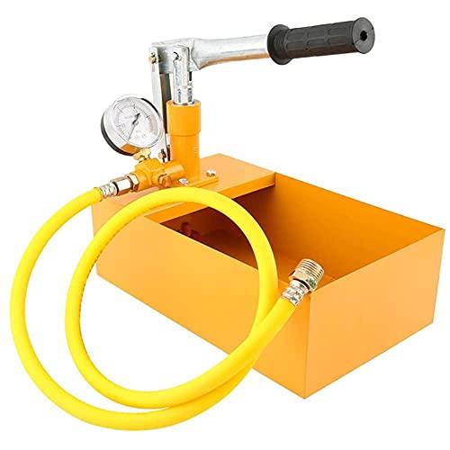 Bomba de prueba de presión de agua,Bomba de Prueba de Preción,Probador de presión de agua,2,5 MPa, 25 kg, bomba de prueba hidráulica,con Manguera de Alta Presión,para válvulas para tuberías