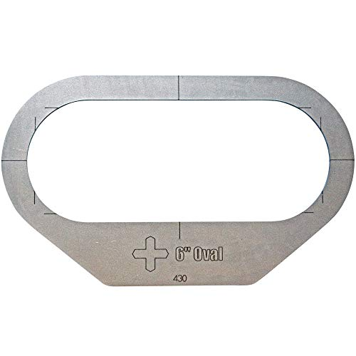 Plasma Stencil - 6' Oval Trailer Light Cutter Guide - Stop/Turn/Tail - .380'