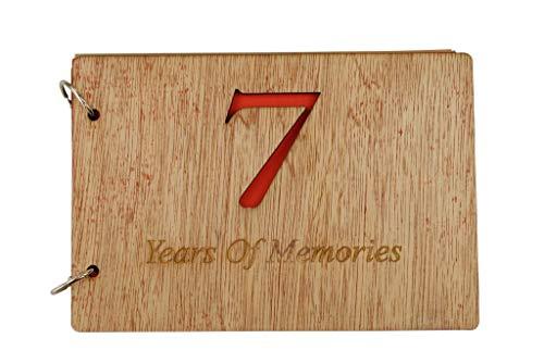 Álbum de recortes de 7º aniversario – 7 años de recuerdos añadir fotos y más