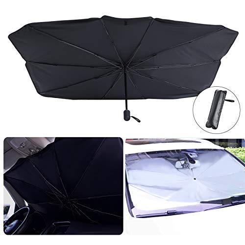 Parasol para parabrisas delantero de coche, protector contra rayos UV, para coche, plegable, para parabrisas delantero, protección contra el sol, protección contra el sol (79 x 130 x 145 cm)