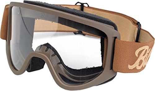 Biltwell Script/Sand Moto 2.0 Schutzbrille, Einheitsgröße, Braun