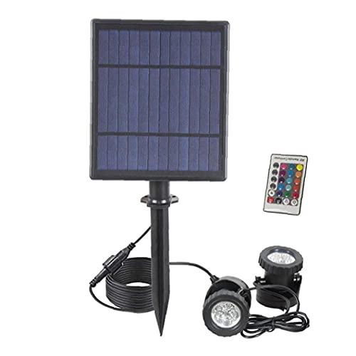 MICHAELA BLAKE Al Aire Libre Foco Solar LED RGB Que Cambia de Color Luces Djustable Impermeable Sumergible Focos Decoración para césped Estanque de jardín Style2