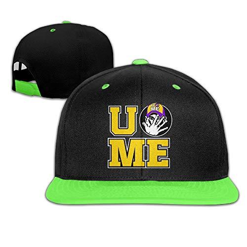 Cap Hat Unisex Kids John Cena You Cant See Me Logo Hit Color Hip-Hop Baseball Caps Hats Kellygreen