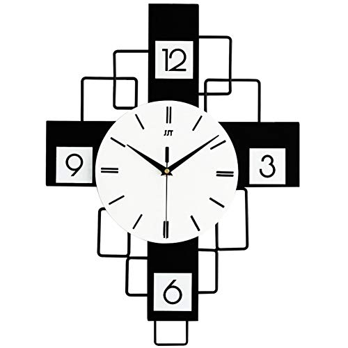 GJBHD Rectangle Wall Hanging Clock, Silent Non Ticking Wall Clock,home Decor Simple Modern Wall Clock For Living Room Hallway Easy To Read-b 38x50cm(14x19)