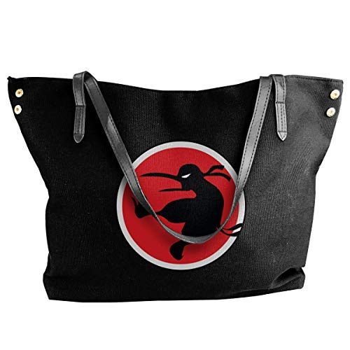tiao9143 Damenhandtaschen,Damen-Schultertaschen Ninja Kiwi Women's Canvas Shoulder Bag Fashion Messenger Bags Classic purse shopping Sling Bag