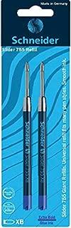 Schneider Slider 755 XB Ballpoint Pen Refill, Blue, Pack of 2 (175693)