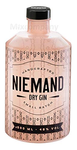 Niemand Handcrafted Dry Gin 0,5l 500ml (46% Vol) Gin Tonic Ginliebhaber- [Enthält Sulfite]