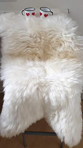 PSB Schaffell Lammfell Länge Mind. 110 cm Teppich Sitzfell pflanzlich gegerbt Natur, braun, meliert