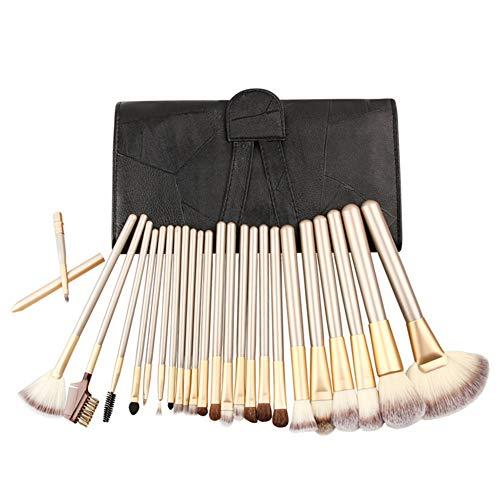 Brosse De Maquillage Professionnel 24 Pièces Avec Des Outils De Beauté Pack Brosse PU Modification Du Visage Pour L'école De Maquillage Studio,2