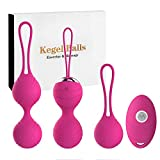 Abandship 2 in 1 Kegel Balls for Women Beginners & Advanced - 3 Ben Wa Balls Kegel Exercise Weights Products, Doctor Recommended Tightening Training Sets for Bladder Control and Pelvic Floor Exercises