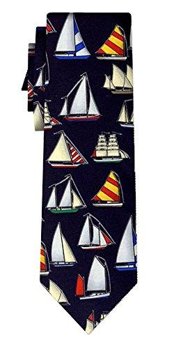 Cravate sailboats rpt black