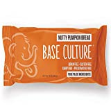 Paleo Bread, Nutty Pumpkin, Large, 100% Gluten Free Bread and Paleo Certified, 4g of Protein per Loaf, Crafted by Base Culture (6 Count)