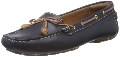 Clarks Dunbar Racer 203548814 Damen Espadrille Halbschuhe, Blau (Navy Leather), EU 37