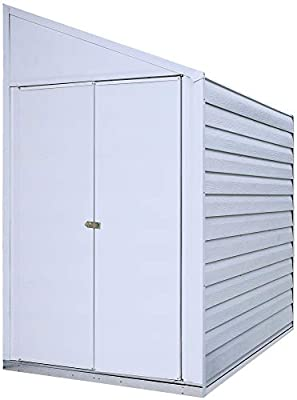 Arrow Yardsaver Pent Roof Steel Storage Shed, Eggshel