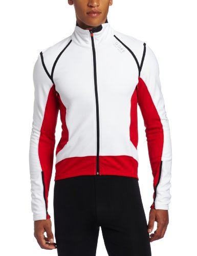 Gore Bike WEAR Herren Jacke Xenon 2.0 Soft Shell, White/Red, M, JWXENQ013508