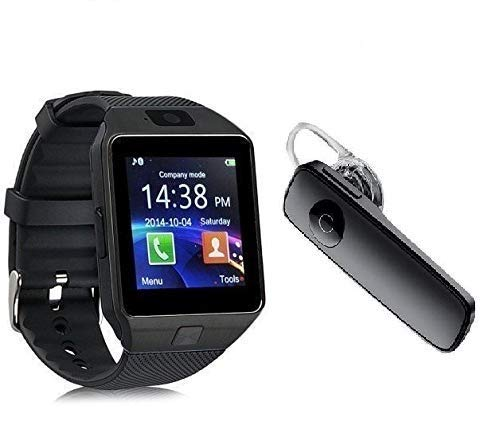 Wellking DZ09 Smart Watch Bluetooth Smartwatch Compatible with All Mobile Phones for Boys and Girls & Get a Free Bluetooth (Silver)
