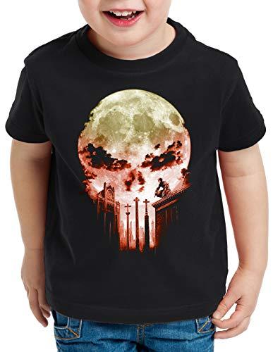 A.N.T. Vengador Ciego Camiseta para Niños T-Shirt Dare Diablo Comic Luna Llena Calavera, Talla:116