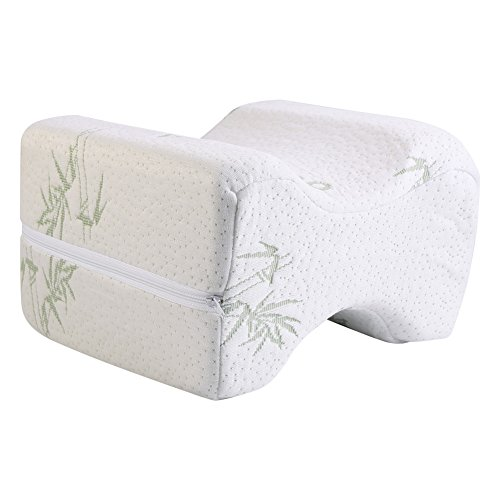 Yosoo cuscino per ginocchio, a memoria di forma, cuscino ortopedico per ginocchio, anca, coscia, 4colori (bianco)