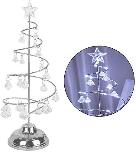 HANYA Christmas Decoration Lights Creative Crystal Ornaments Night Light Scene Layout Christmas Tree (Golden)
