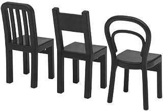 Ikea Fjantig Gancho Forma Silla Negros 12x6 cm 3 Unidades