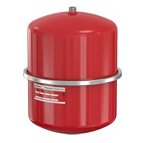 Flamco 16924 Flexcon Premium Ausdehnungsgefäß 25 Liter, 3 Bar Membran Druckausdehnungsgefäß für Heizung, Heizungsanlage und Kühlanlage, Rot, 15 Jahre Garantie
