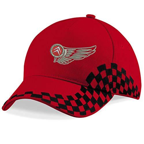 subla2017 Citroen Flügel Bestickte Logo Baseball Cap Mütze - k 1215 - Rot-VIP