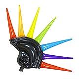 WIDMANN 01459Casco Hinchable con Multicolores Pinchos para Adultos, 90cm, Color Negro