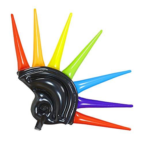 Widmann - Helm aufblasbar mit bunten Spikes