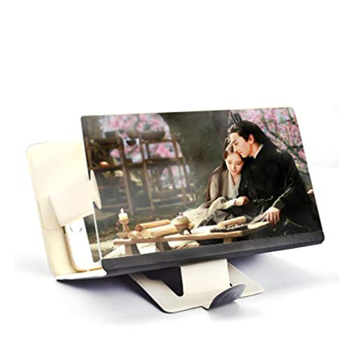CompraJunta 3D amplificateur vidéo 2x-4x 8-12 Pouces écran pour Mobile, cinéma Domestique Portable et Pliable HD Anti-Radiation et de la Fatigue,Black,8inch