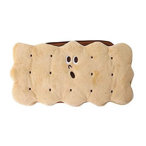 SKYLULU Sandwich Keks Plüsch Bleistift Tasche Einfach trendy ins große Kapazität Netto Promi Grundschüler niedlichen Briefpapier Box Mädchen Herz