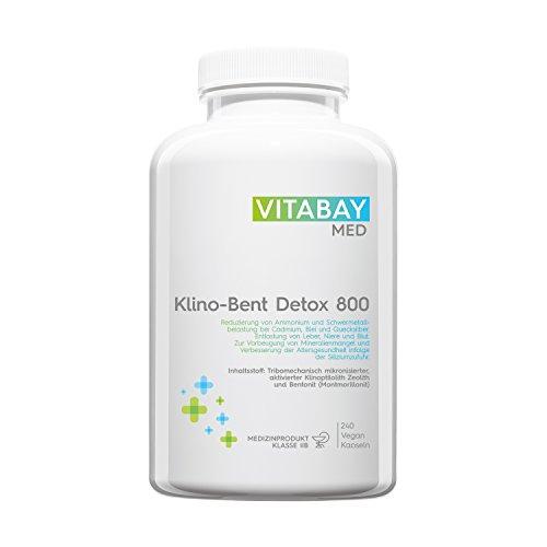 Klino-Bent DETOX 800 - Zeolith/Bentonit - Entgiftung & Schwermetallausleitung - 240 vegane Kapseln