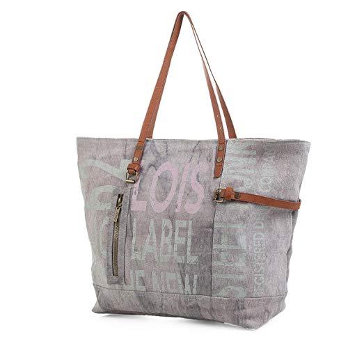 Lois - Bolso Grande de Mujer Tipo Shopping. Lona Estampada. Ideal para Viaje Compras o Playa. Amplio y cómodo. Calidad Estilo y 91205, Color Unico