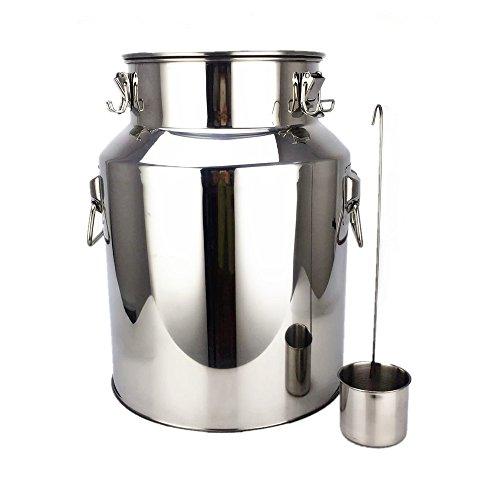 4.75 Gallon Stainless Steel Barrel, Dream_light 18L Stainless Steel Fermenter Home Brew Wine Beer Making Drum, Storage Oil Rice Water Keg