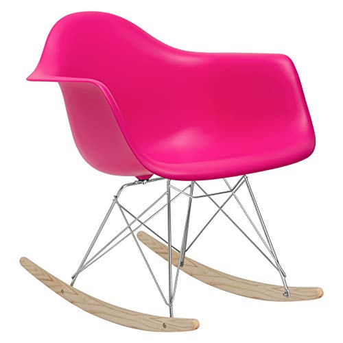 Poly and Bark Rocker Lounge Chair, Fuchsia