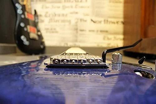 Yzqxiongtu Elektrische gitaar legpuzzels 1000 stuks, creatief houten speelgoed voor volwassenen, volwassenen, kinderen, de familie assembleren puzzelspellen
