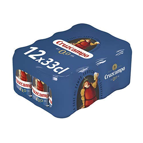 Cruzcampo 00 Cerveza -Paquete de 12 x 330 ml - Total: 3960 ml
