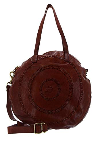 Campomaggi Gallipoli Shopping Bag Rund 41 cm cognac