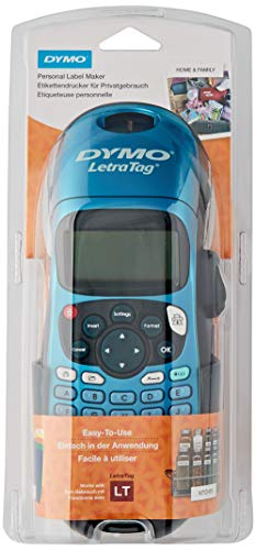 Dymo S0901180 LetraTag LT-100H Plus Label Maker ABC Keyboard - Negro / Azul