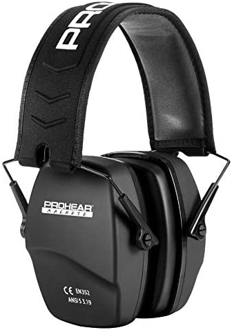 PROHEAR 016 Shooting Ear Protection Safety Earmuffs NRR 26dB Noise Reduction Slim Passive Hearing product image