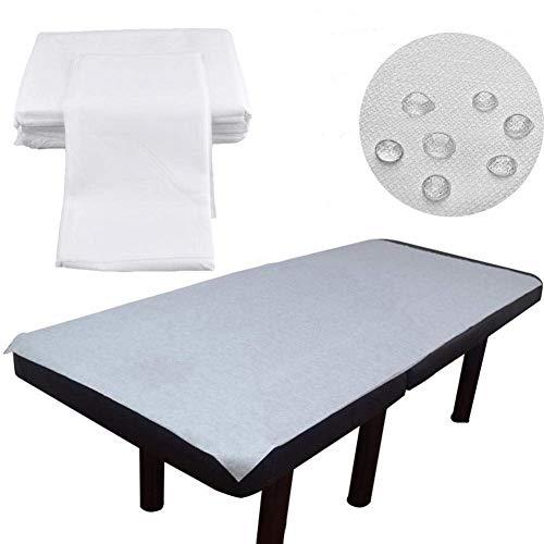 Einweg Massageliegen Auflage Massageliegenbezug, 100 Stück Vlies Bettlaken Wasserdichte ölresistente Massage Liegenabdeckung Bezug Salon SPA Bettdecke, 180 × 80cm