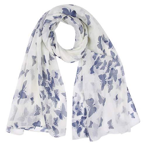 heekpek Pañuelo de Seda Mujer Elegante Bufanda Moda Chals Señoras Elegante Estolas Fular Manton Estampado de Mujer (A)