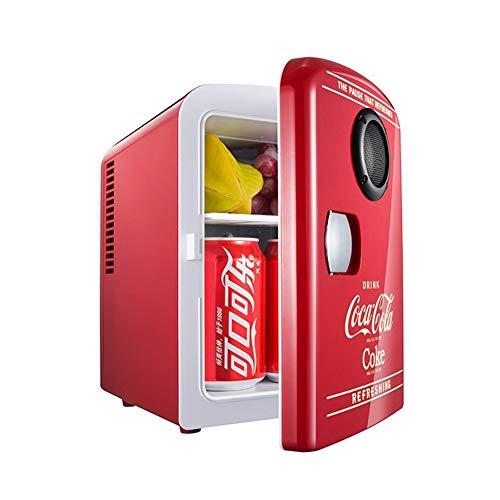YWW-DJ 2in1 Mini Kühlschrank coca-cola Bluetooth-Lautsprecher Auto nach Hause Kühlschrank, AC + DC-Strom Kompatibilität Schlafsaal Schüler Kosmetik Warm und Box Geschenk 4L Warm