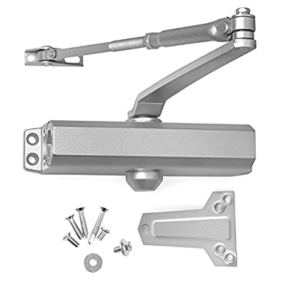 Door Closer Grade 2 Medium Duty, Surface Mounted, Cast Aluminum, for Residential and Light Commercial Applications doorways (Aluminum (AL)) by Lawrence Hardware LH503